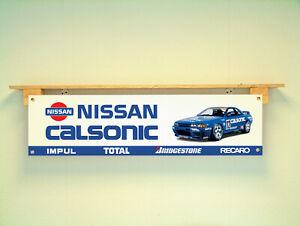 Nissan Calsonic Car Banner Show sign Garage JDM workshop
