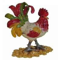 Feng Shui Bejeweled Cloisonne Rooster Statue