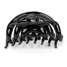 Ladies Women Hair Clip Clamp Claw Grip Butterfly Hairpin Black Plastic DIY Craft