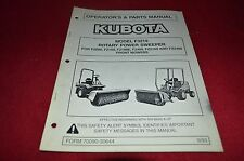 Kubota Model F3219 Rotary Power Sweeper Operator's Manual YABE11