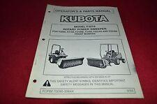 Kubota Model F3219 Rotary Power Sweeper Operator's Manual YABE11