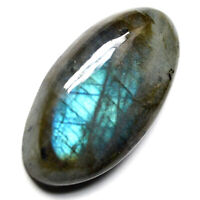 Cts. 35.70 Natural Blue Color Fire Labradorite Cabochon Oval Cab Loose Gemstone