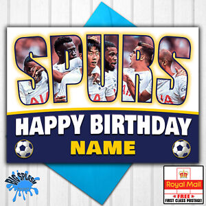 Spurs Tottenham Personalised Birthday Card Any Name or Relative