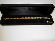 """14KT Yellow Gold 7 1/2"""" Bracelet w/Large Spring Ring Clasp 10 Grams NEW!"""