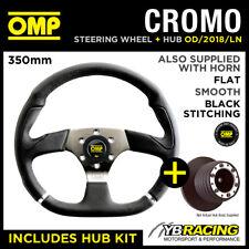 Volante omp 350mm Cromo & Kit De Eje de conexión para adaptarse a VW Golf MK5 GT GTI R32 04 -