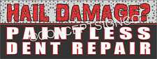 2'X5' PAINTLESS DENT REPAIR BANNER Outdoor Sign Auto Hail Damage Repairs Fix