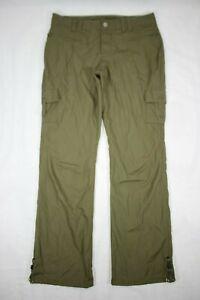 Columbia Titanium Women's Hiking Camping Cargo Pants Olive Green Size 10 Short