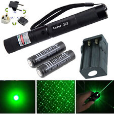 10 Miles Powerful Green 1mW 532NM Laser Pointer Pen Light Burning Beam +Star Cap