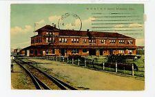MK&TRR Train Depot--McAlester OK Rare Antique Railroad Station PC ca. 1913