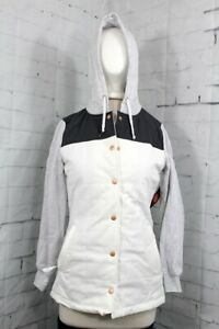 686 Autumn Insulated Snap-up Jacket Women's Small (4-6) White New