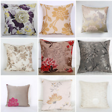 "Cushion Covers Red, Purple, Yellow, Floral Embroidery Luxury Design 18""x18"""
