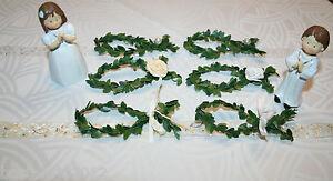 10 x Buchsbaum Fisch Kommunion Konfirmation Taufe Tischdeko Streudeko weiß/creme