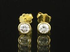 Zeitlose Brillant Ohrstecker ca. 0,70ct   750/- Gelbgold