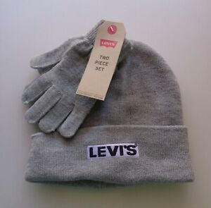 NEW NWT LEVI/'S Boys Charcoal Gray Knit Cap// Winter Hat Size Youth 8//20