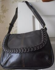 NEW Brown Faux LEATHER PLAIT Shoulder Hand BAG Every day Bag