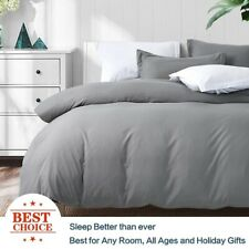 Ultra Soft Duvet Cover Set for Comforter with Pillow Shams Twin Queen King Size