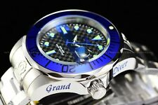 Invicta Men 47mm Grand Diver Automatic NH35 Blue Flame 300M High Polish SS Watch