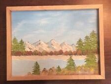 "1995 Robert Freitag Mountain Pond Tree Art Piece Sarasota Florida 9""X12""Painting"