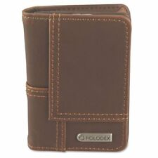 Rolodex Explorer Faux Leather Personal Card Case, 36-Card Capacity, Brown