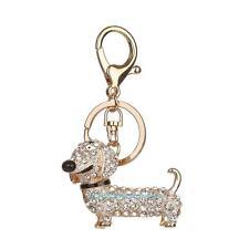Dog Alloy Rhinestone Keychain Purse Bag Key Chain Ring Gift Keyring Craft