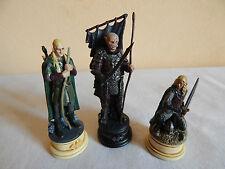 3 figurines en plomb Seigneur des anneaux (jeu d'échecs) Gothmog Legolas Eowyn