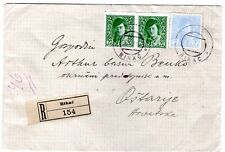 Bosnia S.H.S. 1919 reg'd cover from Bihac Provisional use Newspaper stamps Yugos