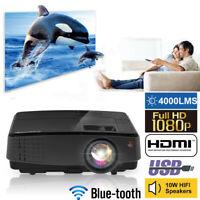 4000Lumen LED Beamer WIFI Bluetooth Heimkino Videospiele LCD Full HD 1080p Spiel
