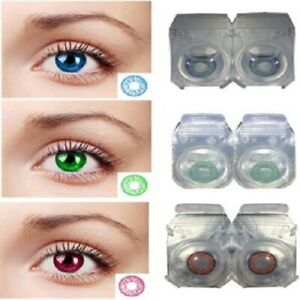 Green, Blue, Red Monthly Color eye disposable eye makeup beauty partywear