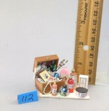 Dollhouse miniature 1/12th scale jewelry box and accessories  #112