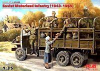 SOVIET/RUSSIAN/ MOTORIZED INFANTRY (WW II PERIOD) #635 1/35 ICM