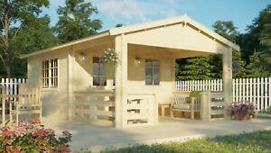 Topangebot! Gartenhaus 40 mm LUND ca. 400 x 595 cm Terrasse, ISO-Glas