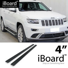 Running Board Side Step Nerf Bars 4in Silver Fit Jeep Grand Cherokee 11-18
