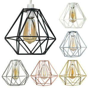 MiniSun Ceiling Light Shade - Industrial Wire Cage Pendant Lampshade + LED Bulb