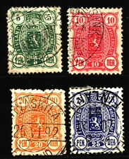 Finland 1889 Mi 28B-31B Coat of Arms (1)
