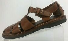 Cole Haan Sandals Fisherman Country Brown Leather Comfort Strappy Brazil Mens 9B