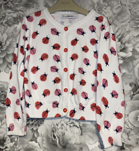 Girls Age 5-6 Years - Ladybirds Patterned Cardigan