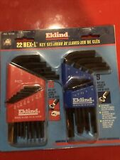 22 Pc Eklind Hex L Key Set USA Made New Inch And Metric 10122
