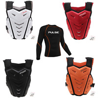 PULSE MOTOCROSS MX BMX MTB CHEST PROTECTOR + THERMAL COLD WEATHER BASE LAYER