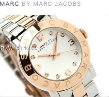 NEW MARC JACOBS ROSE GOLD TWO TONE STAINLESS STEEL LADIES WATCH MBM3194