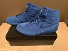 Nike Air Jordan 1 Retro High Team Royal - Blue Suede Men's Size 10.5