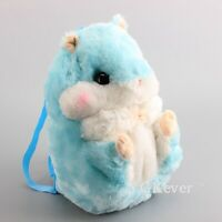 Cute Hamster Doll Backpack Shoulder Bag Plush Toy Stuffed Aniamls Doll Xmas Gift