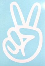 Peace Sign Hand Funny Cool Car Window Vinyl Decal Sticker Choose 12 Colors!