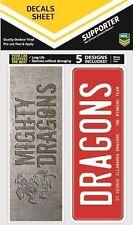 620068 St George Illawarra Dragons NRL Set of 5 Bumper Decals Car Stickers iTag