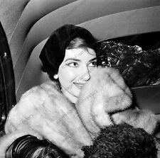 8x10 Print Maria Callas American Soprano Opera 1957 #0823