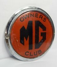More details for vintage mg owners club car badge mascot 9cm