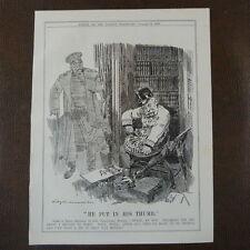 """7x10 """"punch Cartoon 1908 il a mis dans son pouce Bismarck, traité de berlin"""