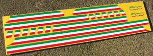 Italian Flag side Stripe  Decals Stickers designed to fit fiat 500