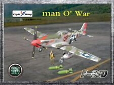 "Flight Wing WWII US P-51D ""man O' War"" MUSTANG Fighter Plane 1/18"