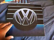 1995 VW Volkswagen Colors and UpholsteriesUSA Market Sales Brochure Prospekt