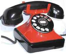 OLD EUROPEAN BELGIUM BELL PHONE BLACK AND RED